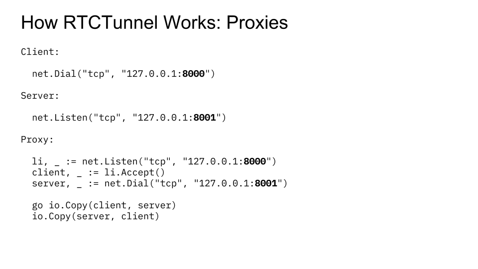 RTCTunnel: Building a WebRTC Proxy with Go | doxsey net